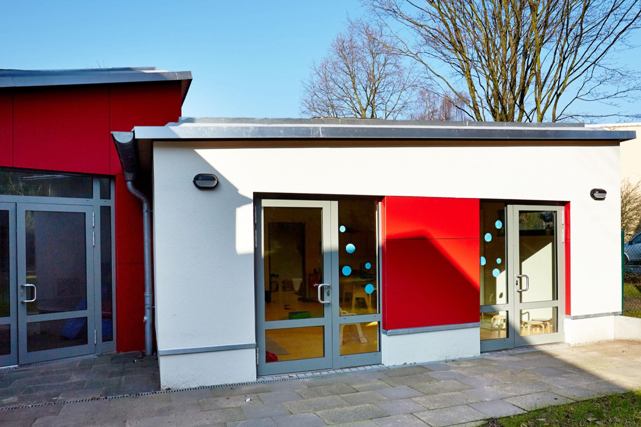Kindergarten Maximilian Kolbe, Erweiterung Nord, Rückseite
