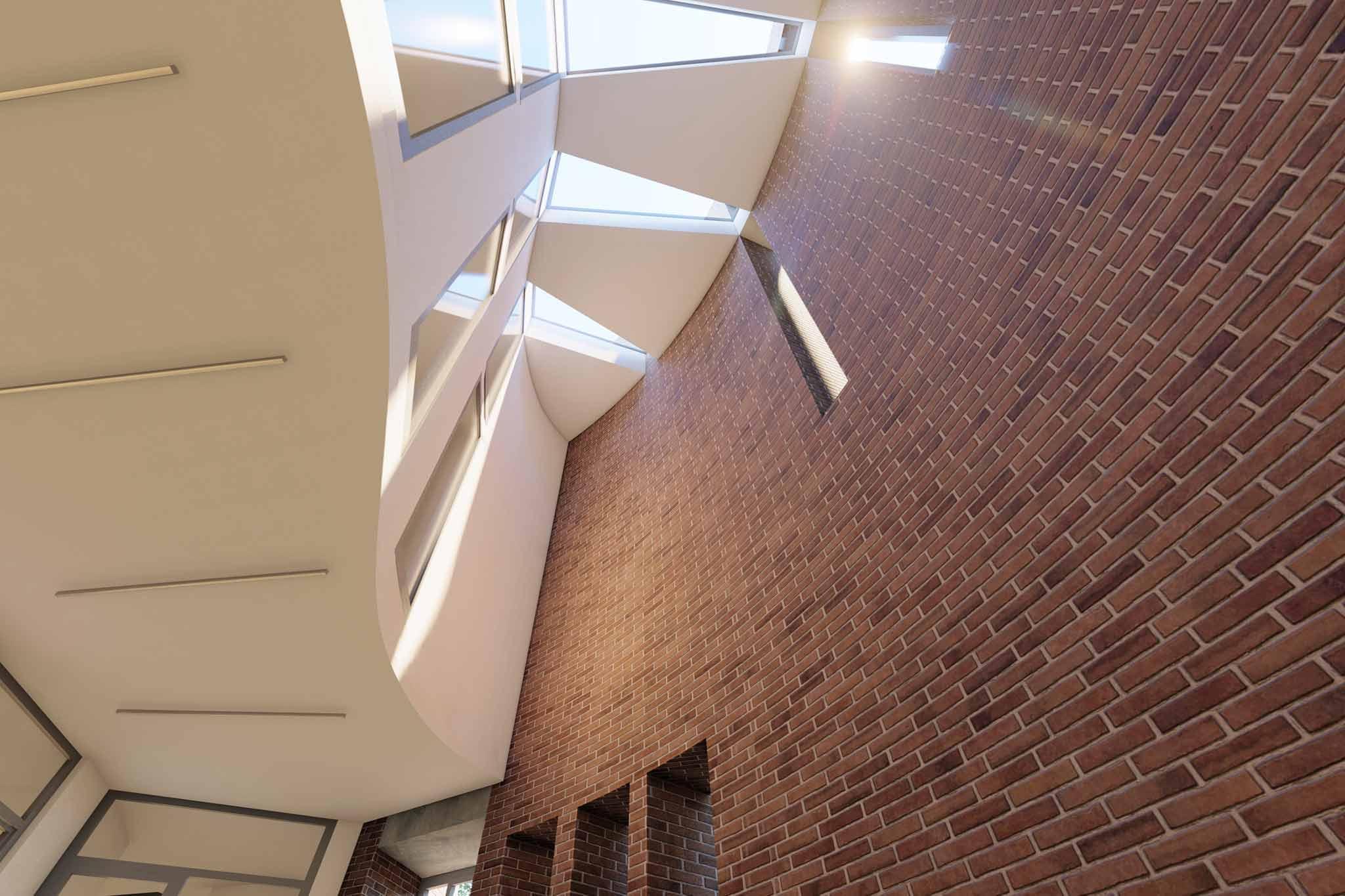 Thomas Morus, Visualisierung Innenraum Eingang
