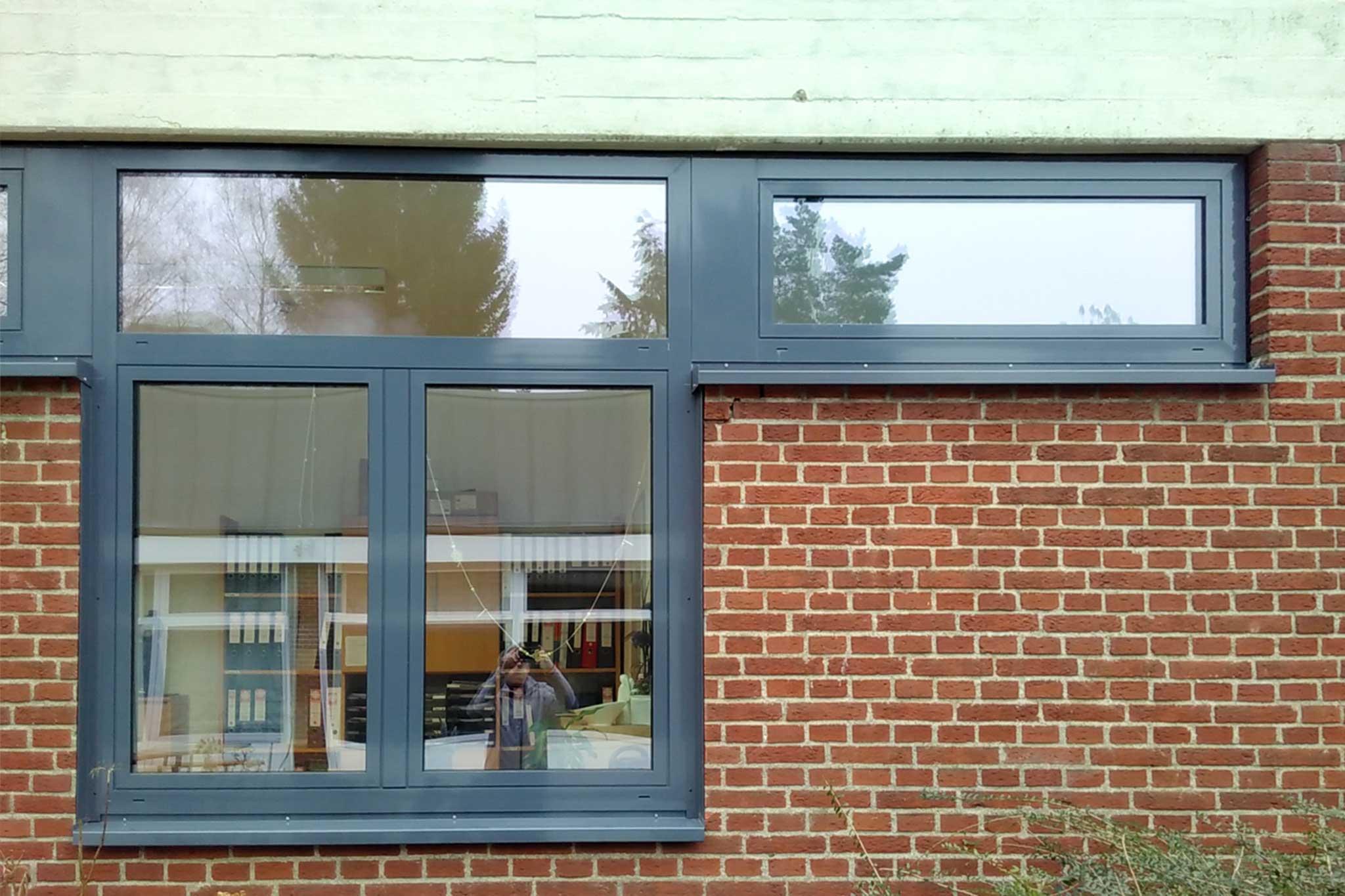 Kindergarten Sankt Matthias, Bestand mit neuen Fenstern