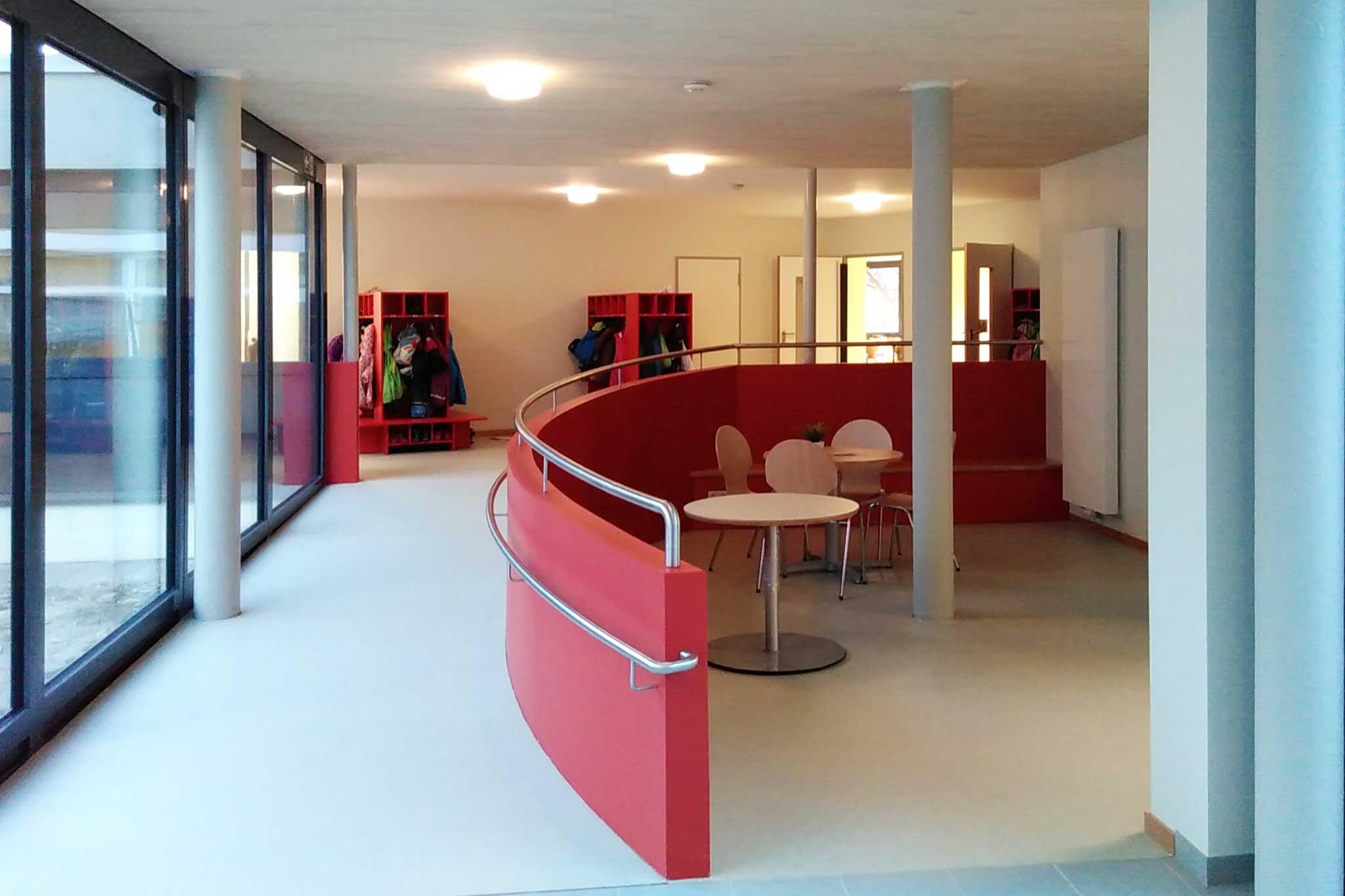 Kindergarten Sankt Matthias, Neues Foyer mit Elterncafé